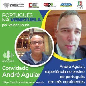 André Aguiar, experiência no ensino de português em três continentes